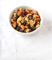 Trail Mix of dry fruits and chocolate chips