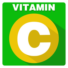Flat icon for vitamin C.