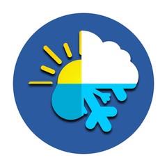 Sun, cloud, rain, snow icon