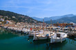 Boats in Port Soller town on coast of Majorca island, Spain - 80879326