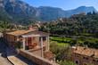 Stone houses in Deia mountain village, Majorca island
