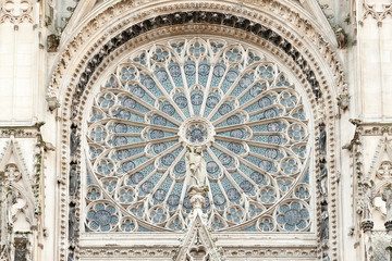 Rosette of Notre Dame de Rouen cathedral, Normandy