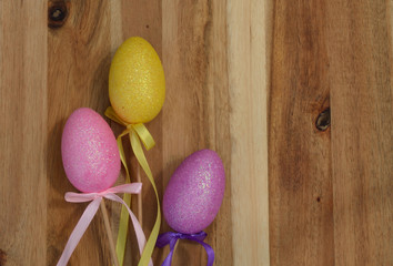 Sparkling colorful pastel Easter eggs