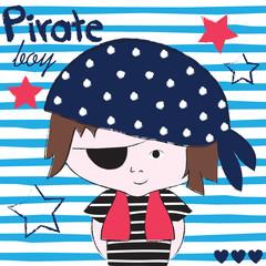 pirate boy vector illustration