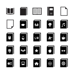 Book Icon set 1