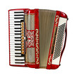 accordion, front view - 80881331