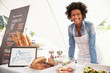 Female Bakery Stall Holder At Farmers Fresh Food Market - 80881591