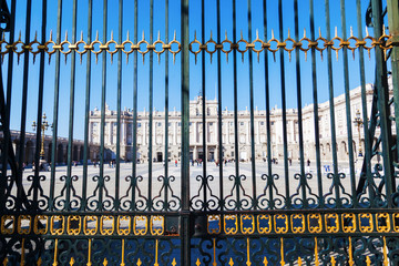 Tor am Königspalast in Madrid