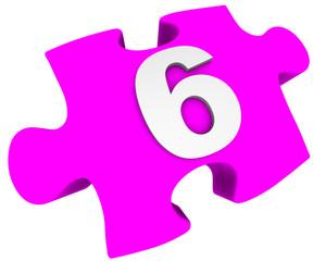 Цифра 6. Пазл