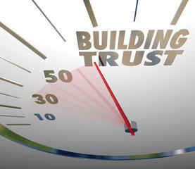 Building Trust Speedometer Reputation Faith Customer Loyalty