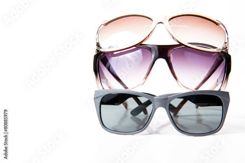 Sun Glasses isolated on white background.