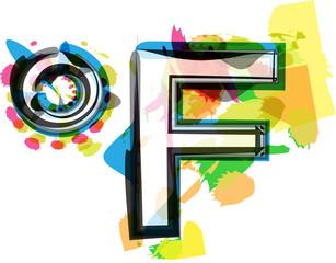 Artistic Fahrenheit Symbol