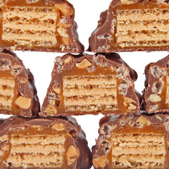 Chocolate with caramel  background