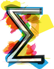 Artistic Sigma Sum sign