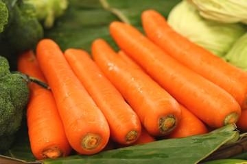 fresh carrots at the market