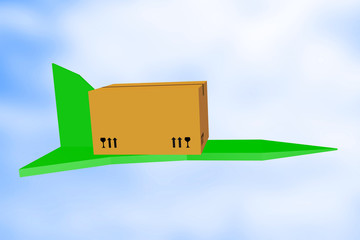 Package with airplane