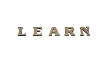 Word learn made of wood