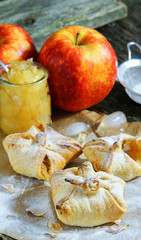 puff pastry with apple jam