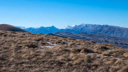 The Caucasus mountain range