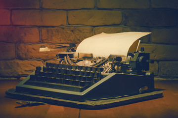 old typewriter, instagram retro style