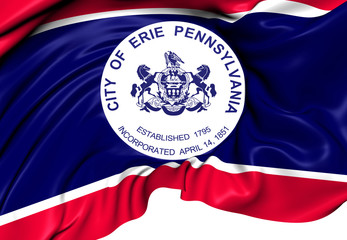 Flag of Erie, USA.