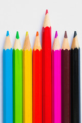 Colorful Pencils on a white table