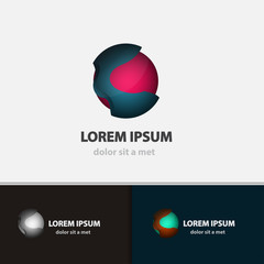 Vector sphere logo icon for your company.