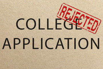Rejected college application form