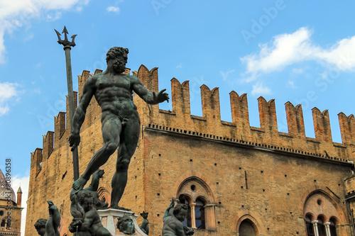 Neptune fountain in the Piazza Maggiore in Bologna, Italy - 80896358