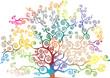 albero con rami curvi e colorati - 80897966