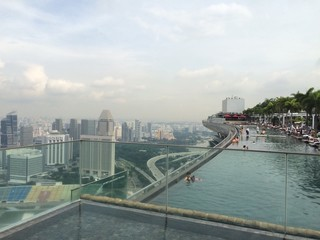 View over Marina Bay Sands Infinity Pool - Singapore