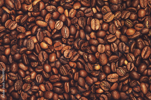 In de dag Aromatische Coffee beans