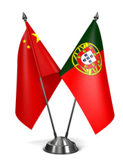China and Portugal - Miniature Flags.