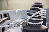 Winch and rope, yacht detail