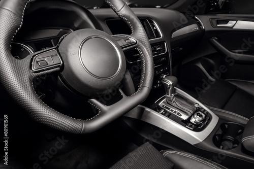 Modern car interior Poster