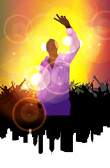 Disco party. Music event