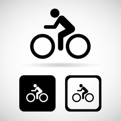 Bicycle sign and icon, vector illustration