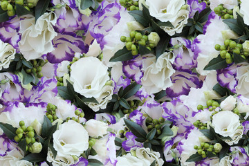wedding bouquet with eustomy