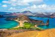 Leinwanddruck Bild - View from Bartolome Island