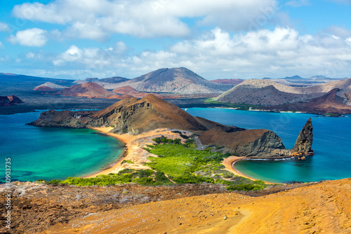 Foto op Canvas Strand View from Bartolome Island