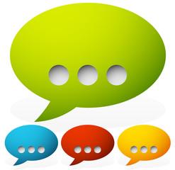 Speech bubbles with ellipsis punctuation mark