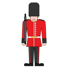 vector illustration of a royal guard