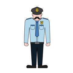 vector illustration of policeman