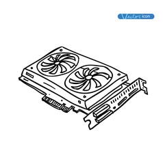 computer video card. vector illustration.