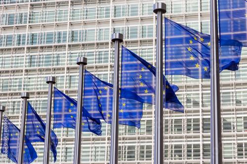Leinwanddruck Bild EU flags