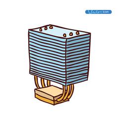 computer CPU cooler . vector illustration.