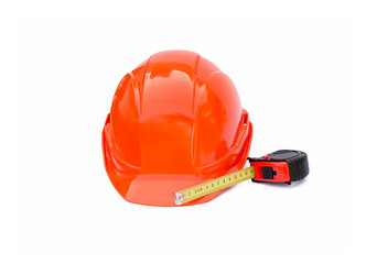 Protective construction helmet and roulette the isolated