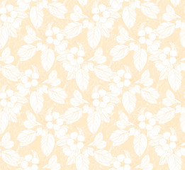Seamless pattern with blossom branch