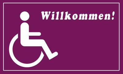Rollstuhlfahrerin Willkommen