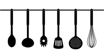 Küchenhelfer Silhouetten